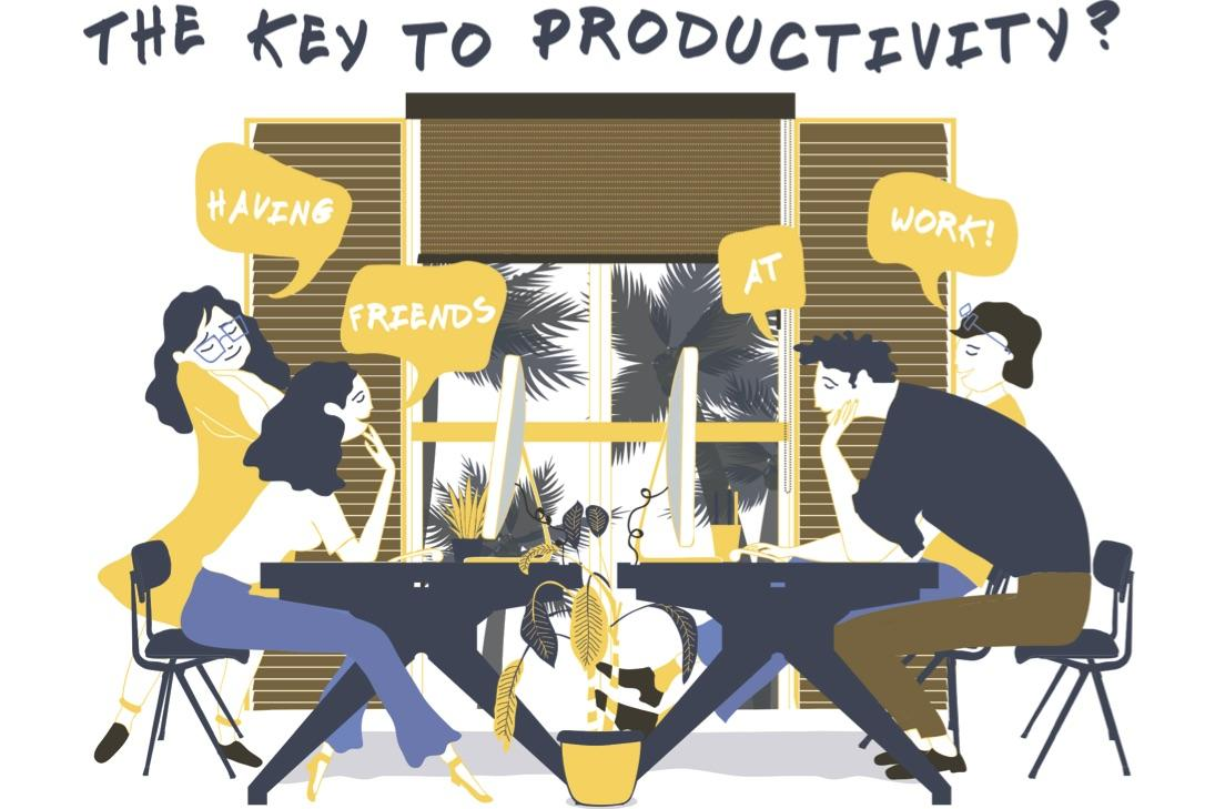 The Key to Productivity? Having Friends at Work
